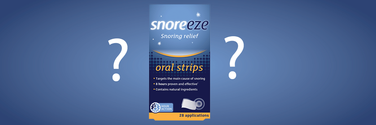 How does a Snoreeze Oral Strip work?